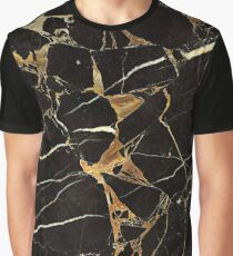 Gold Marble – Black Marble – Cool Elegant Girly Marble Gift Design Graphic T-Shirt