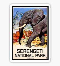 Serengeti National Park Tanzania Vintage Elephant Africa Sticker