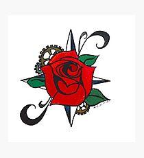 Steampunk Rose Photographic Print
