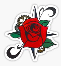 Steampunk Rose Sticker