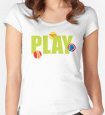 Play: Tennis Ball Multi Women's Fitted Scoop T-Shirt