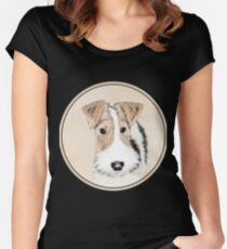 Wire Fox Terrier Women's Fitted Scoop T-Shirt