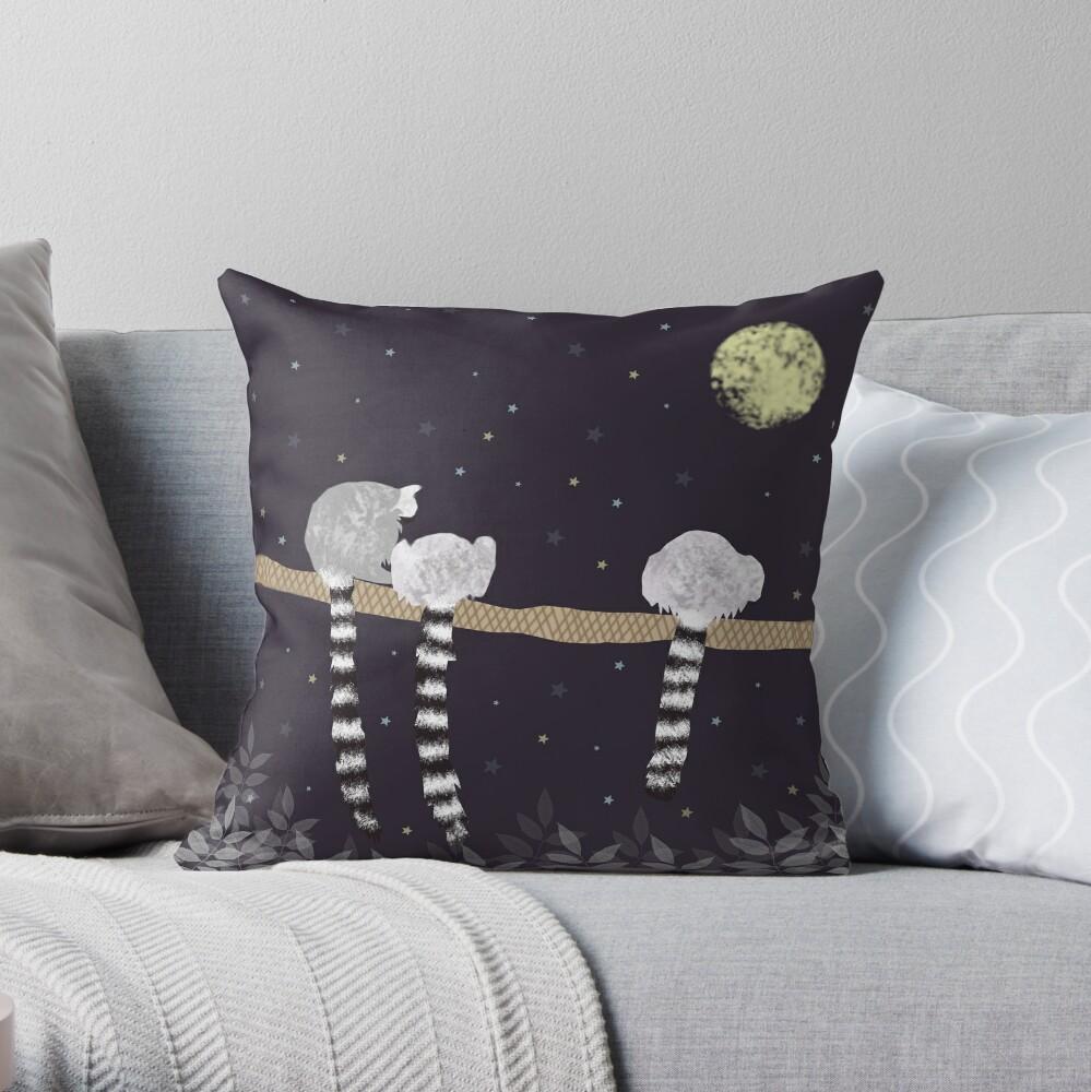 Lemurs Throw Pillow