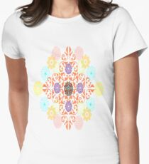 Ornamental Style  Women's Fitted T-Shirt