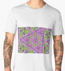 Abstract flora purple print III Men's Premium T-Shirt