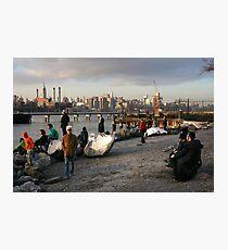 On Location, Brooklyn, New York, Like a Movie Set Photographic Print