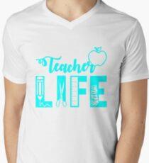 Teacher Life T-Shirt Men's V-Neck T-Shirt