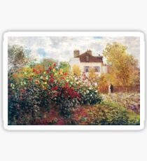 The Artist's Garden Claude Monet Artwork Sticker