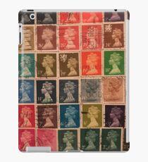 Vintage stamp puzzle iPad Case/Skin