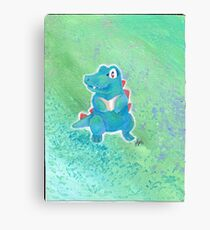Spike the Totodile Canvas Print