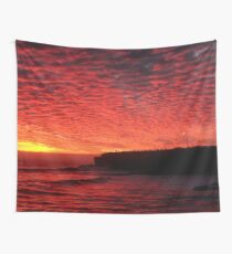 Santa Cruz on Fire Wall Tapestry