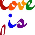 love is love rainbow by IdeasForArtists
