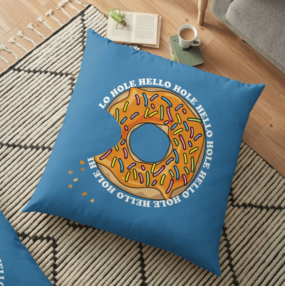 Hello Hole Fun Donut Floor Pillow