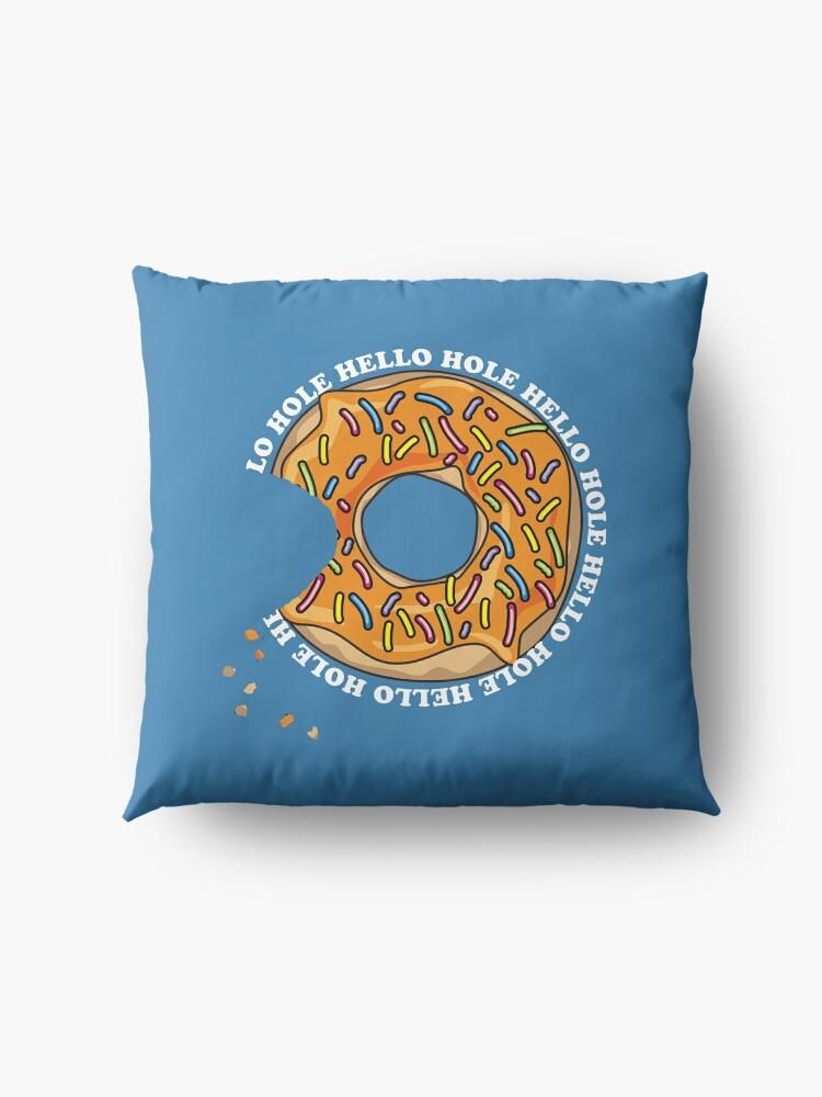 Alternate view of Hello Hole Fun Donut Floor Pillow