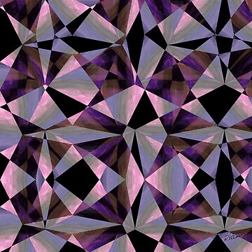 Purple Jeweltoned Shapes by RuthPalmer