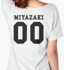 Miyazaki PYREX (black text) Women's Relaxed Fit T-Shirt