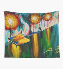 Autumn Streetscape Wall Tapestry