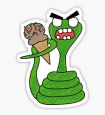 angry zombie cobra Sticker
