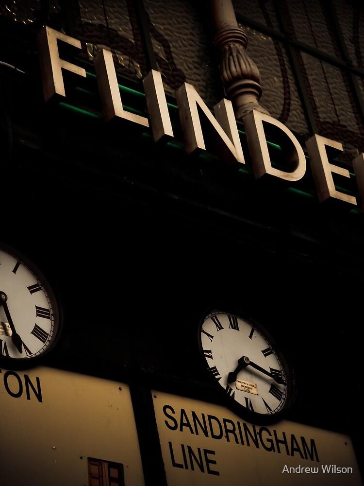 Flinders st station clocks by AndrewWilson