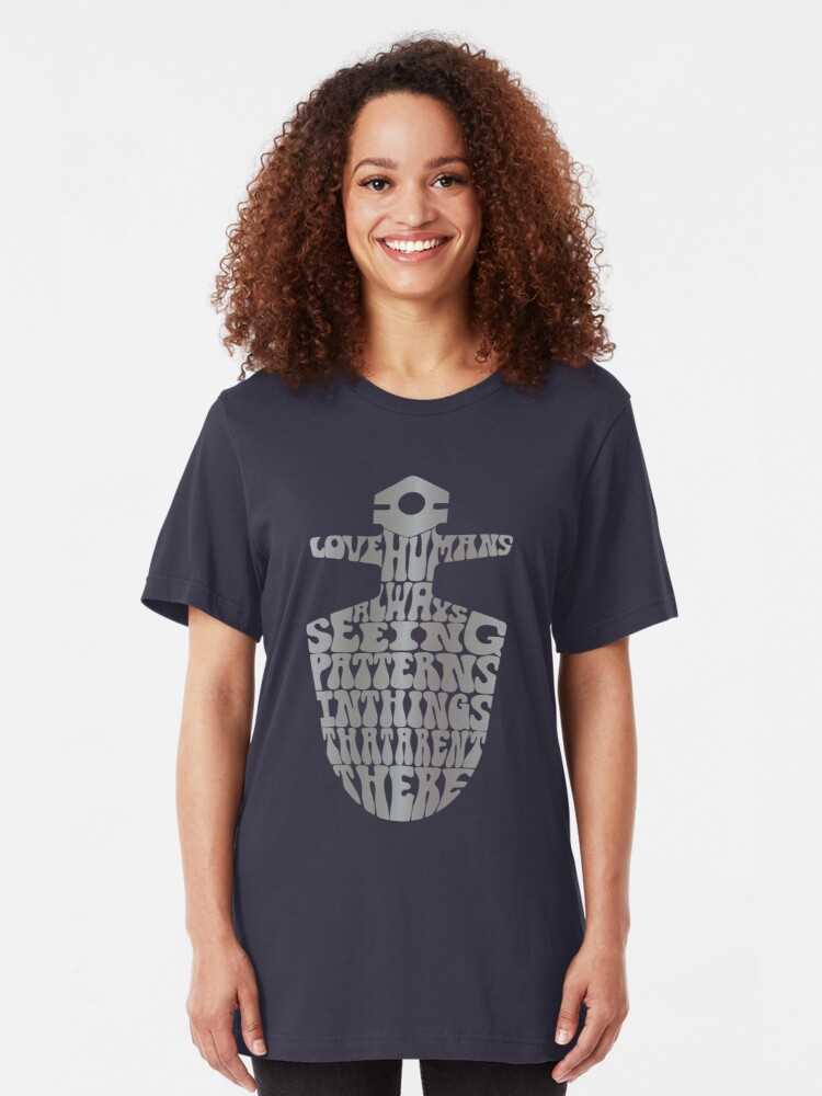 Alternate view of I Love Humans Slim Fit T-Shirt