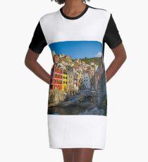 Riomaggiore - Cinque Terre, Italy Graphic T-Shirt Dress