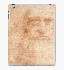 Brick Wall Painting Leonardo da Vinci by Leonardo da Vinci Urban Artist iPad Case/Skin