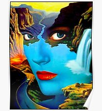 Stress: Vintage surreale abstrakte psychedelische Print Poster