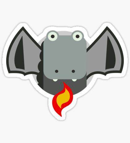 Cute Dragon Grey Sticker