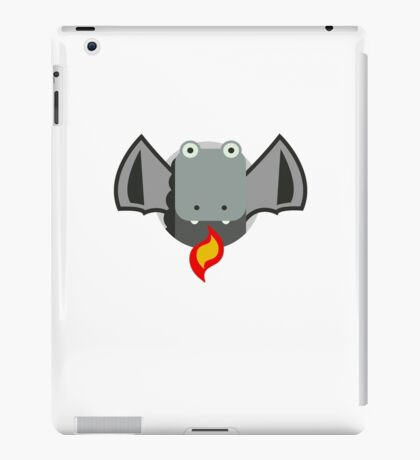 Cute Dragon Grey iPad Case/Skin