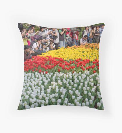 Celebrity Tulips Throw Pillow