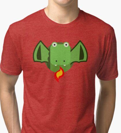 Cute Dragon Green Tri-blend T-Shirt