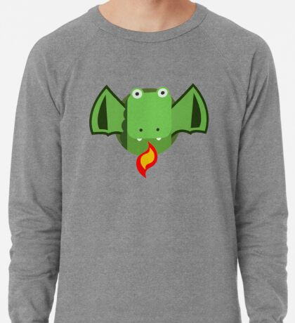 Cute Dragon Green Lightweight Sweatshirt