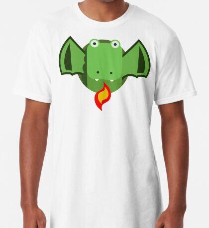Cute Dragon Green Long T-Shirt