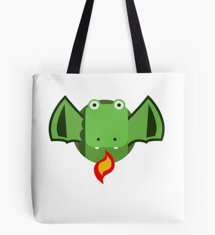 Cute Dragon Green Tote Bag