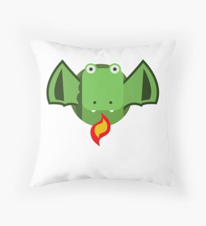 Cute Dragon Green Throw Pillow