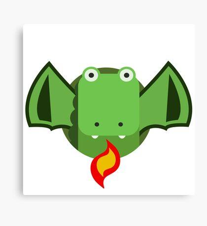 Cute Dragon Green Canvas Print