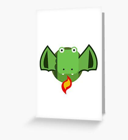 Cute Dragon Green Greeting Card