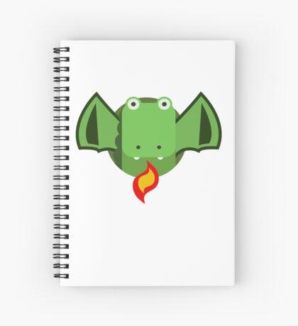 Cute Dragon Green Spiral Notebook