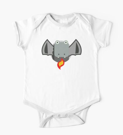 Cute Dragon Grey Kids Clothes