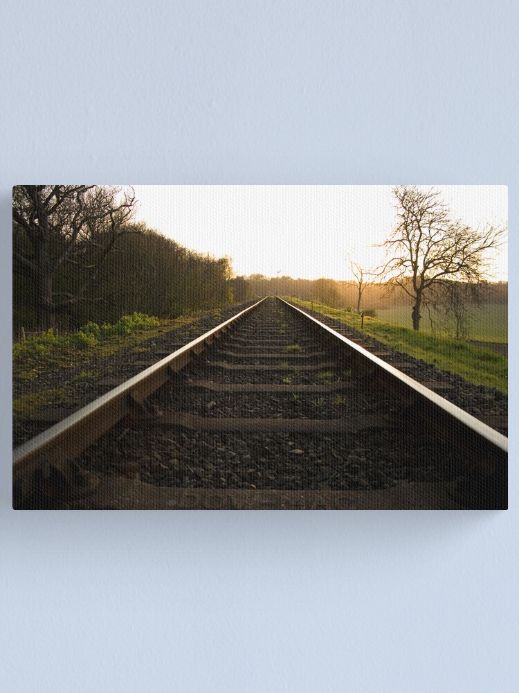 Alternate view of On The Tracks At Kelling Heath Canvas Print