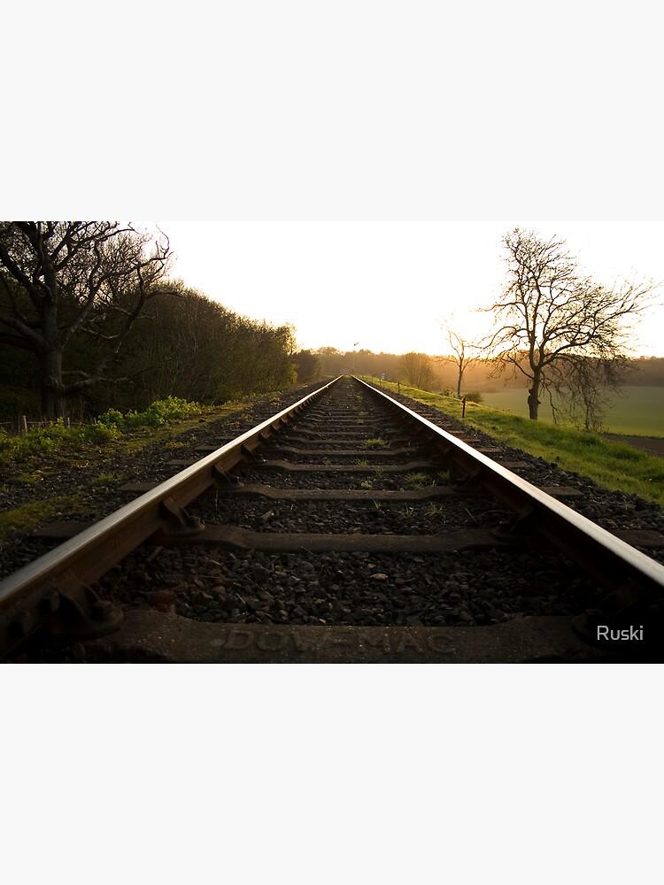 On The Tracks At Kelling Heath by Ruski