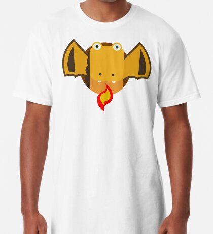 Cute Dragon Orange Long T-Shirt