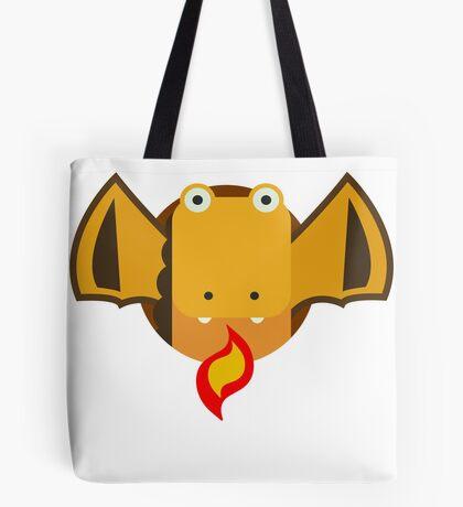 Cute Dragon Orange Tote Bag