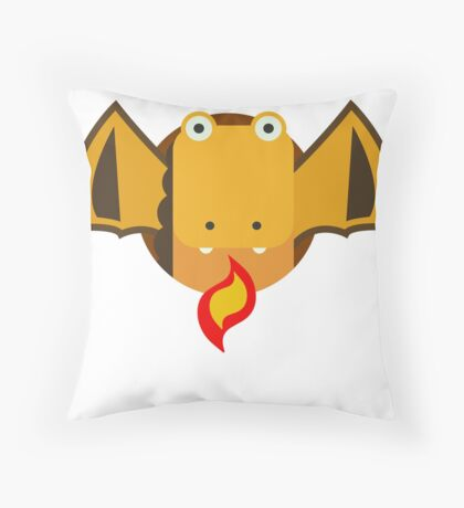 Cute Dragon Orange Throw Pillow