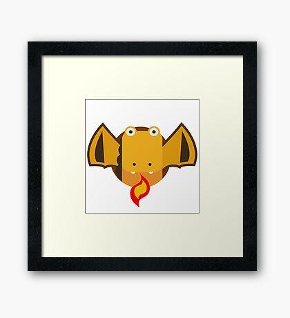 Cute Dragon Orange Framed Print