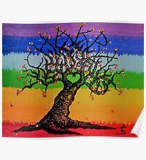 Chakra Love Tree Poster