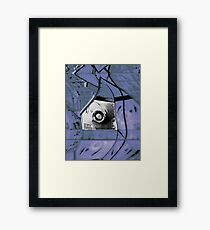 Mirror Blue Framed Print