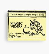 Magic Video Canvas Print