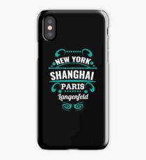 Langenfeld - Our city is not a Weltmertopole but you should. iPhone Case/Skin