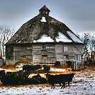 Iconic Round Barn by Larry Trupp